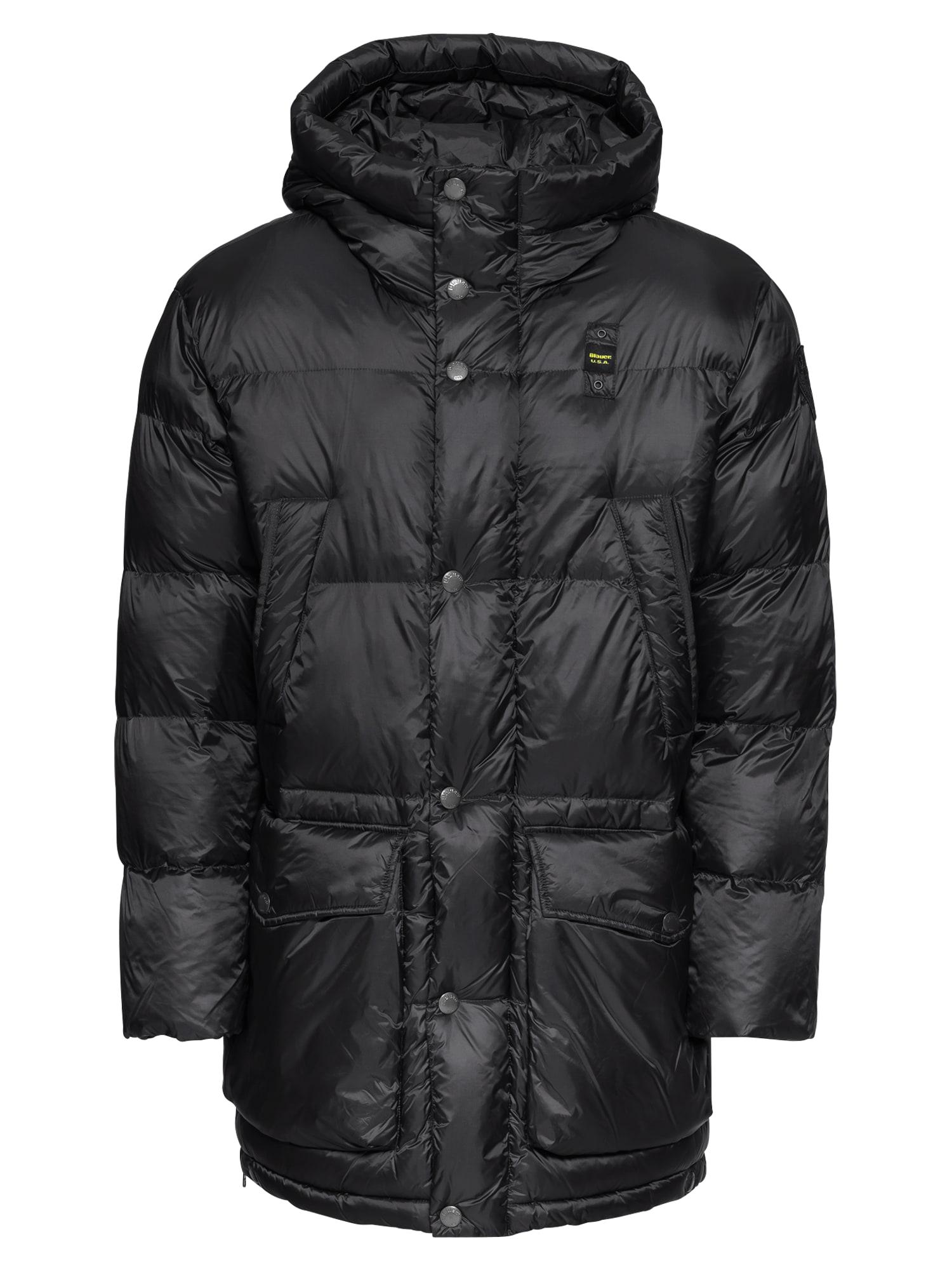 Blauer.USA Zimný kabát 'BLOUSON IMBOTTTITO'  čierna