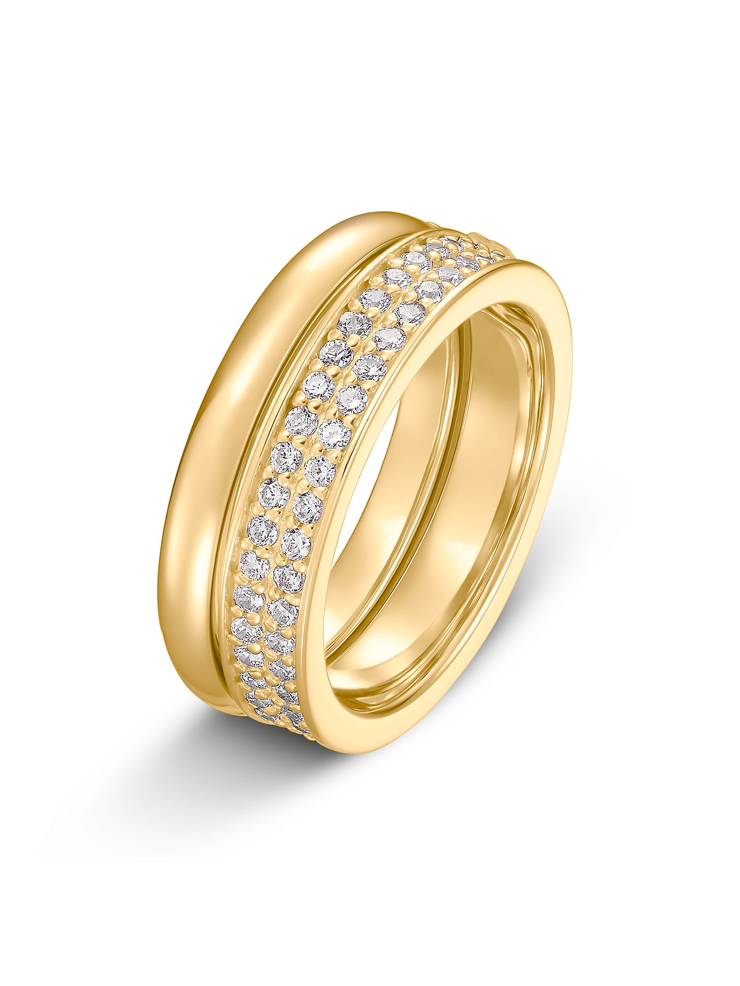 Damen JETTE Ring beige, gold, grau, weiß | 04040615356921
