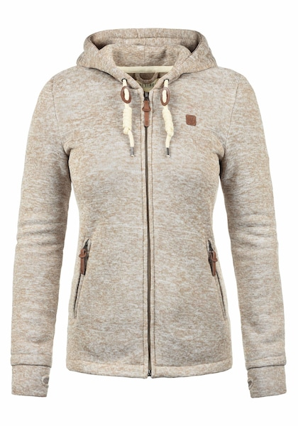Jacken für Frauen - Desires Sweatjacke 'Thory' creme  - Onlineshop ABOUT YOU
