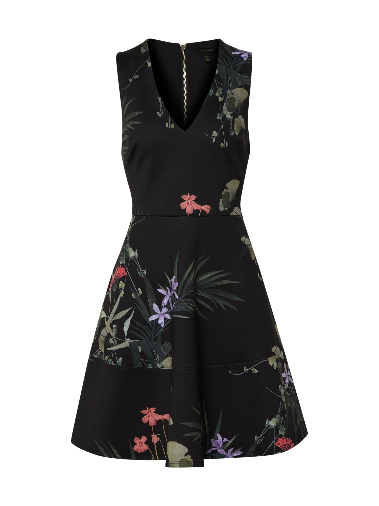 Ted Baker Kokteilinė suknelė 'Wrapel' mišrios spalvos / juoda
