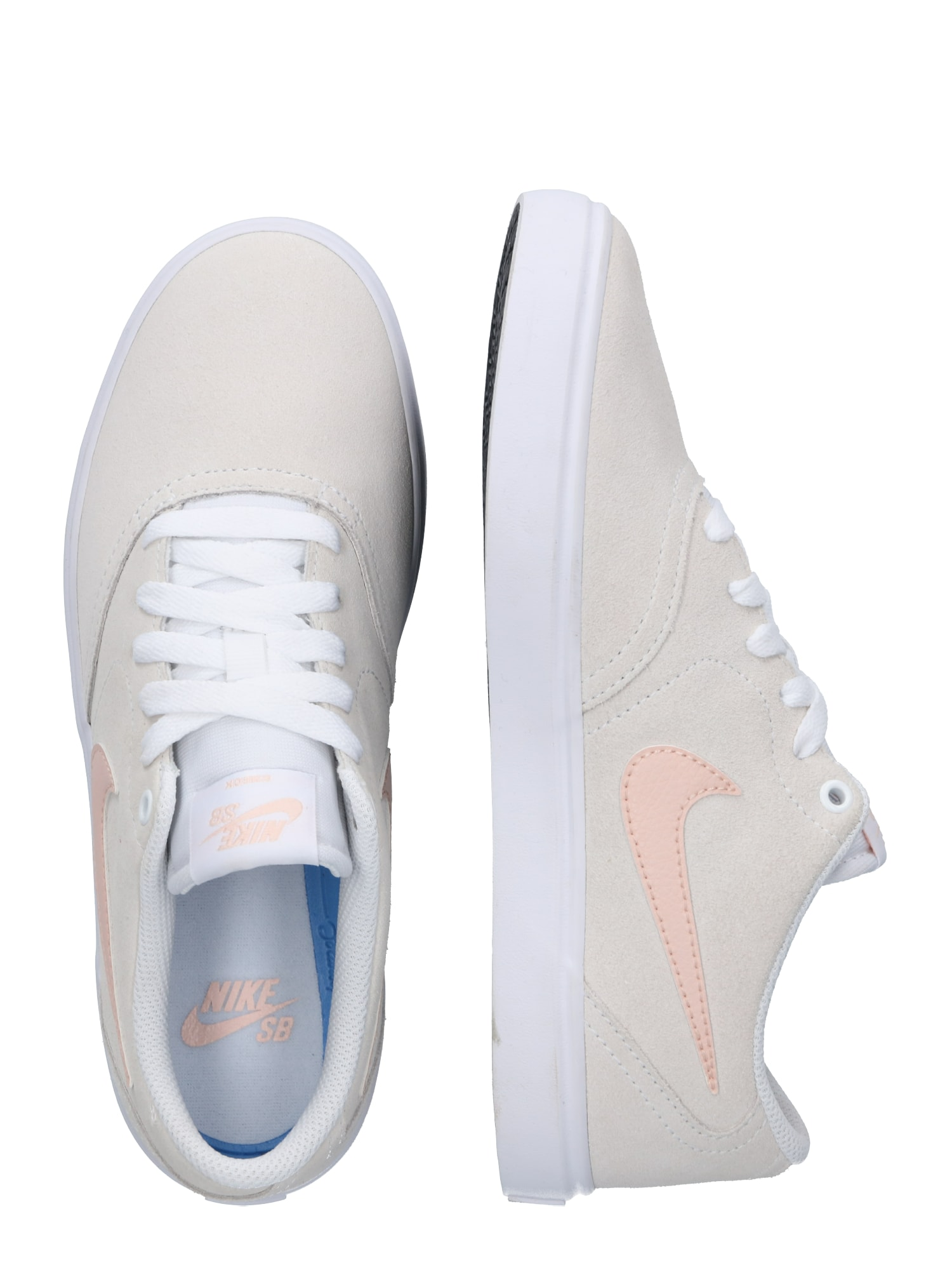 Nike SB, Damen Sneakers laag Check Solar, koraal / offwhite