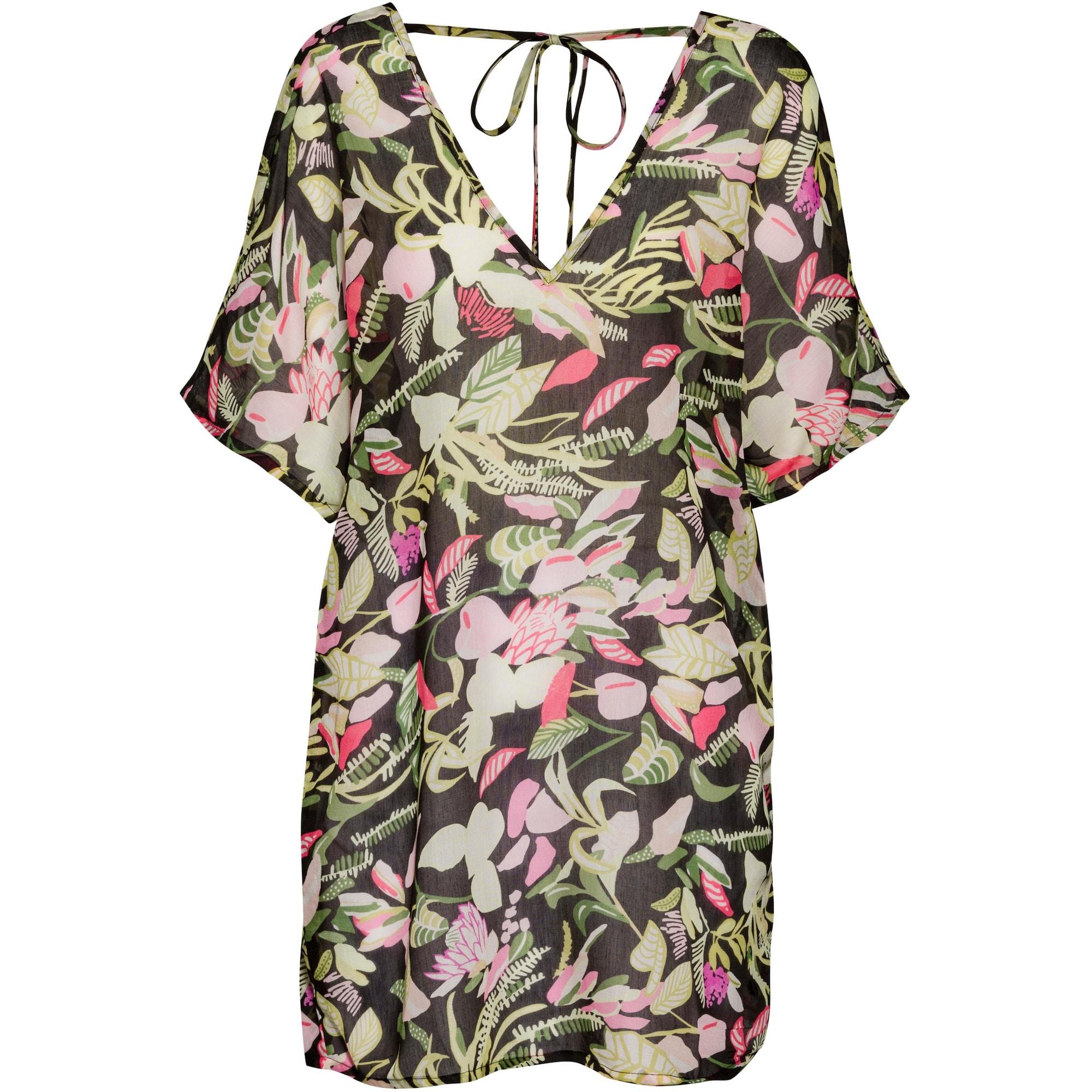 s.Oliver Paplūdimio suknelė juoda / rožinė / šviesiai žalia