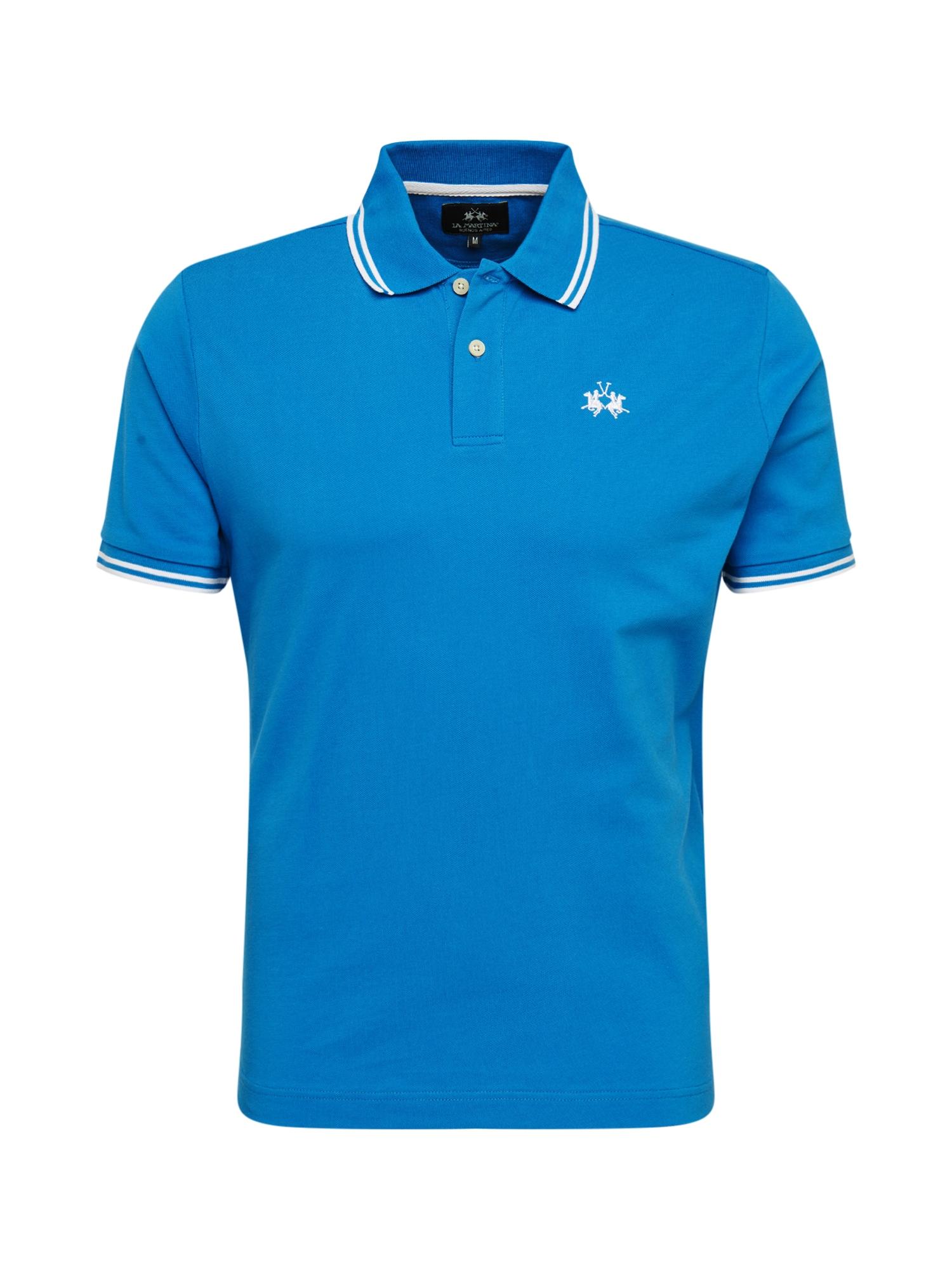 La Martina Marškinėliai 'BPMP02-PK097' tamsiai mėlyna