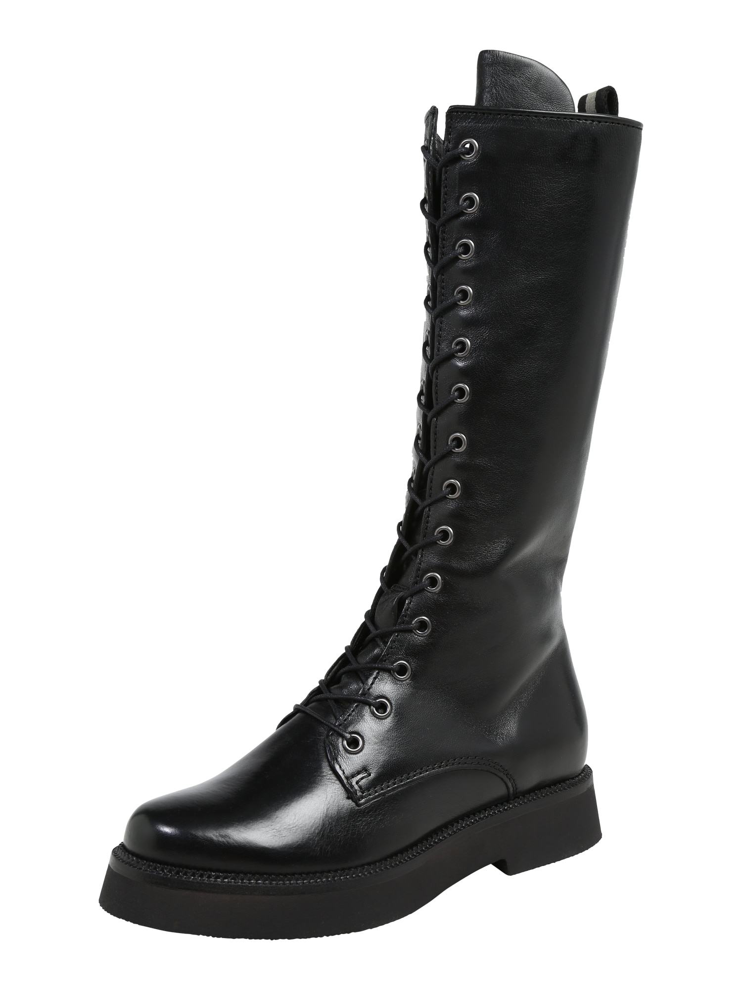 MJUS šněrovací boty černé
