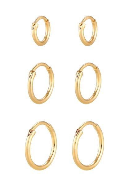 Ohrringe für Frauen - Ohrringe Creole, minimal › ELLI › gold  - Onlineshop ABOUT YOU