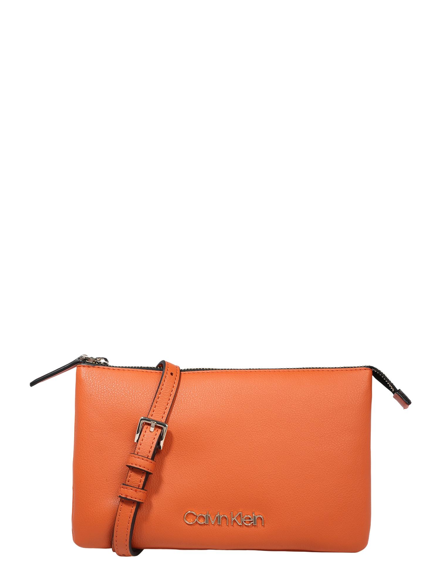 Calvin Klein Rankinė su ilgu dirželiu oranžinė