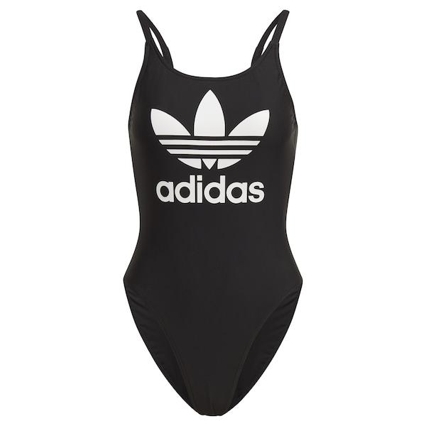 Bademode - Badeanzug › adidas Originals › weiß schwarz  - Onlineshop ABOUT YOU