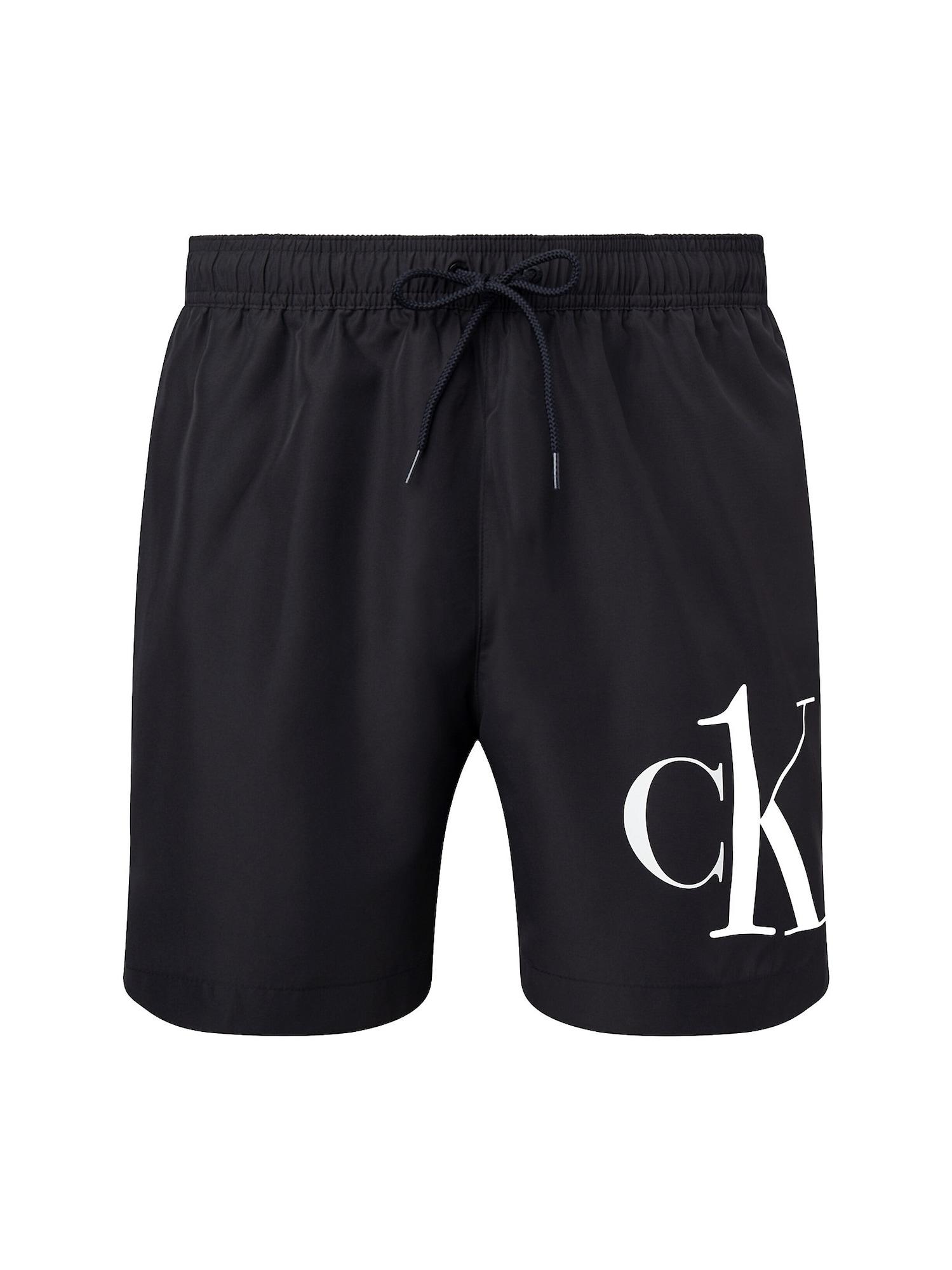 Calvin Klein Swimwear Maudymosi trumpikės balta / juoda