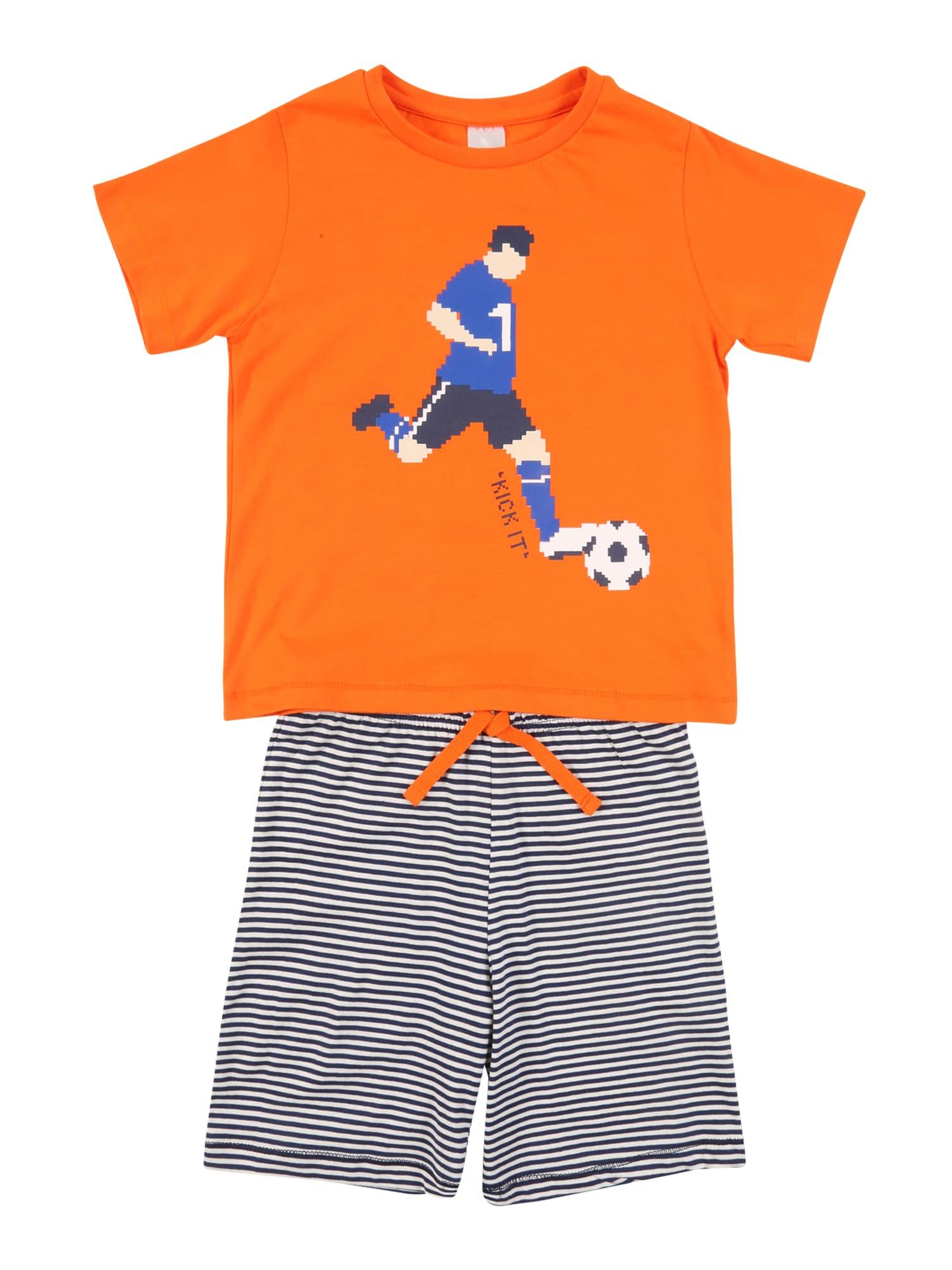 STACCATO Miego kostiumas tamsiai mėlyna jūros spalva / oranžinė