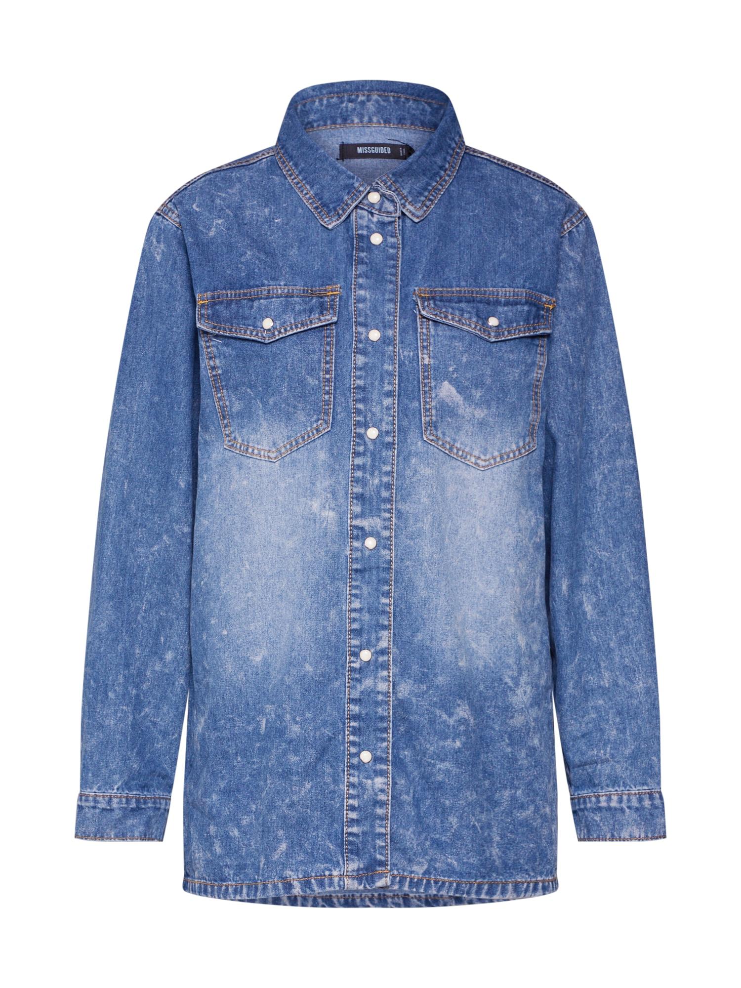 Missguided Palaidinė tamsiai (džinso) mėlyna
