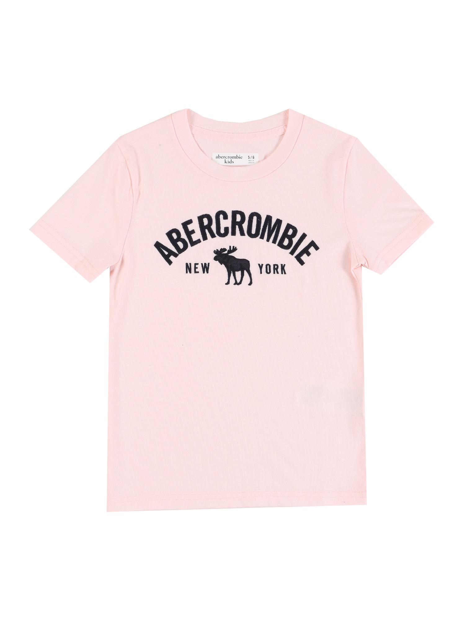 Abercrombie & Fitch Marškinėliai 'S120-M5 T12 SS TECH LOGO 6CC' rožinė