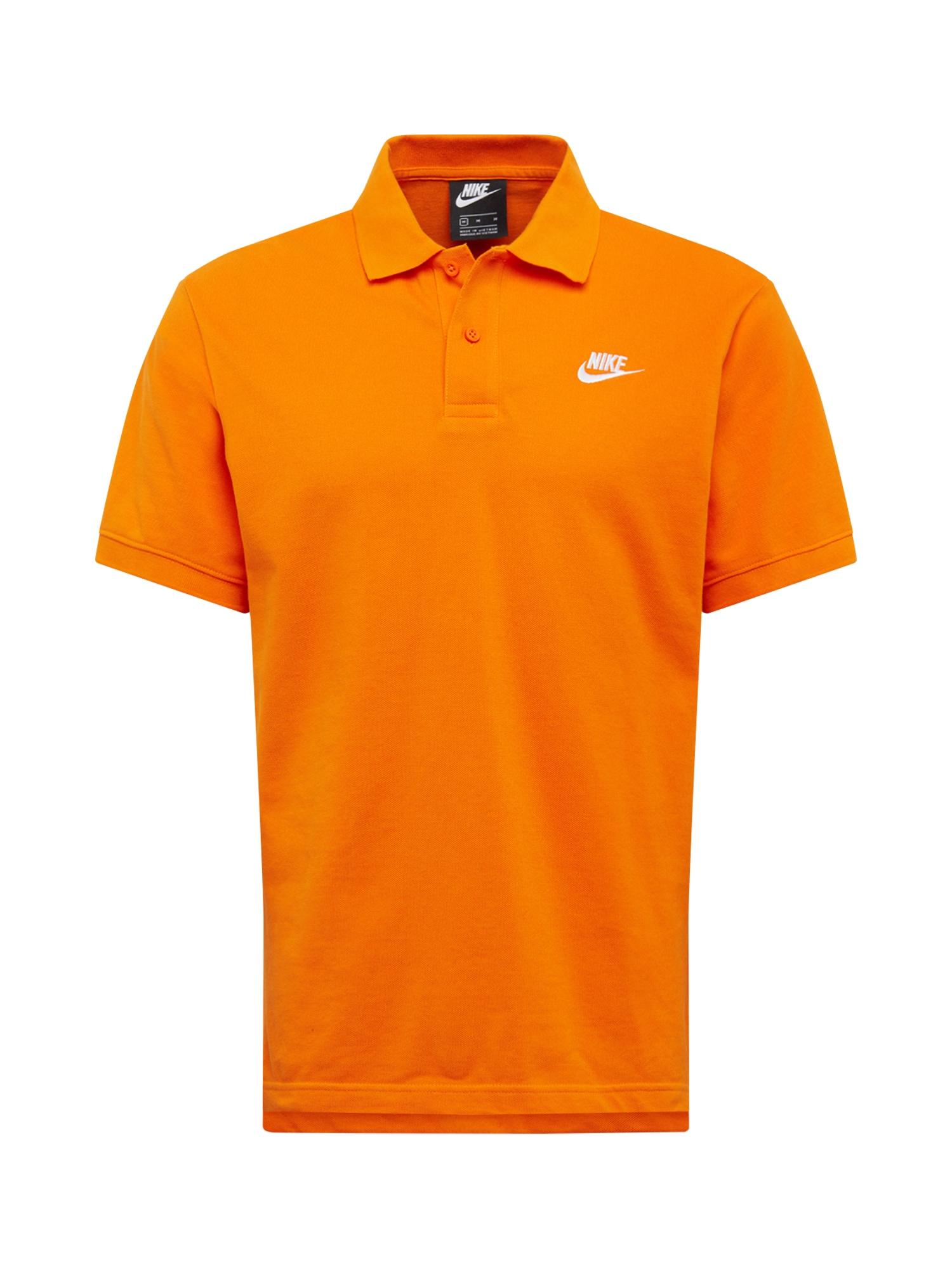 Nike Sportswear Sportiniai marškinėliai oranžinė-raudona