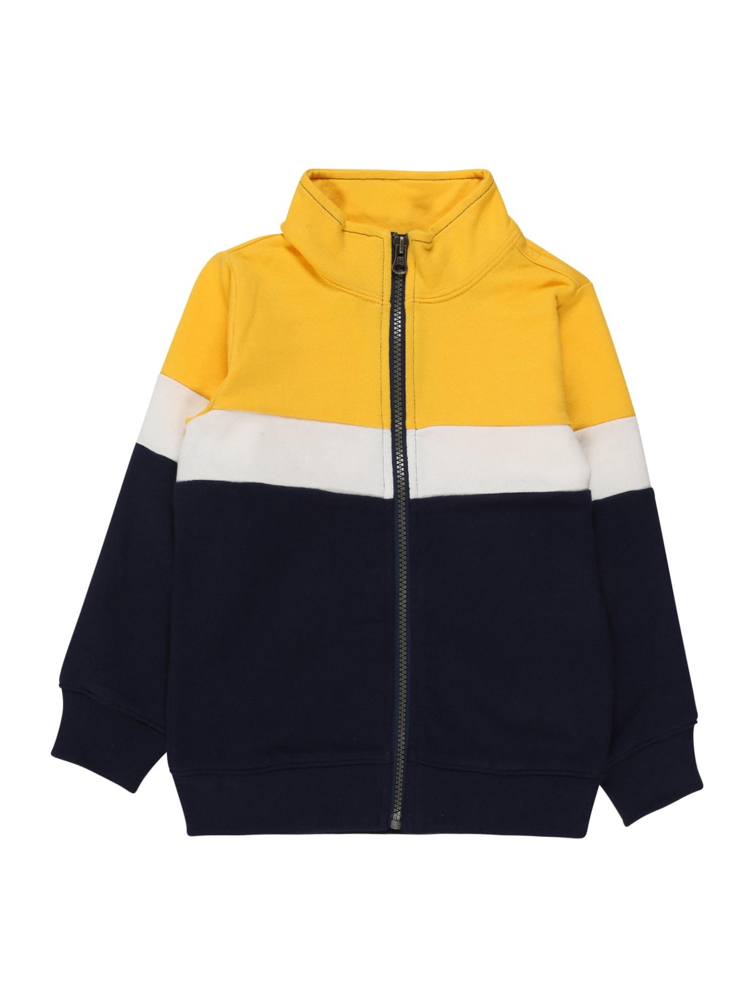 Carter's Demisezoninė striukė balta / geltona / tamsiai mėlyna