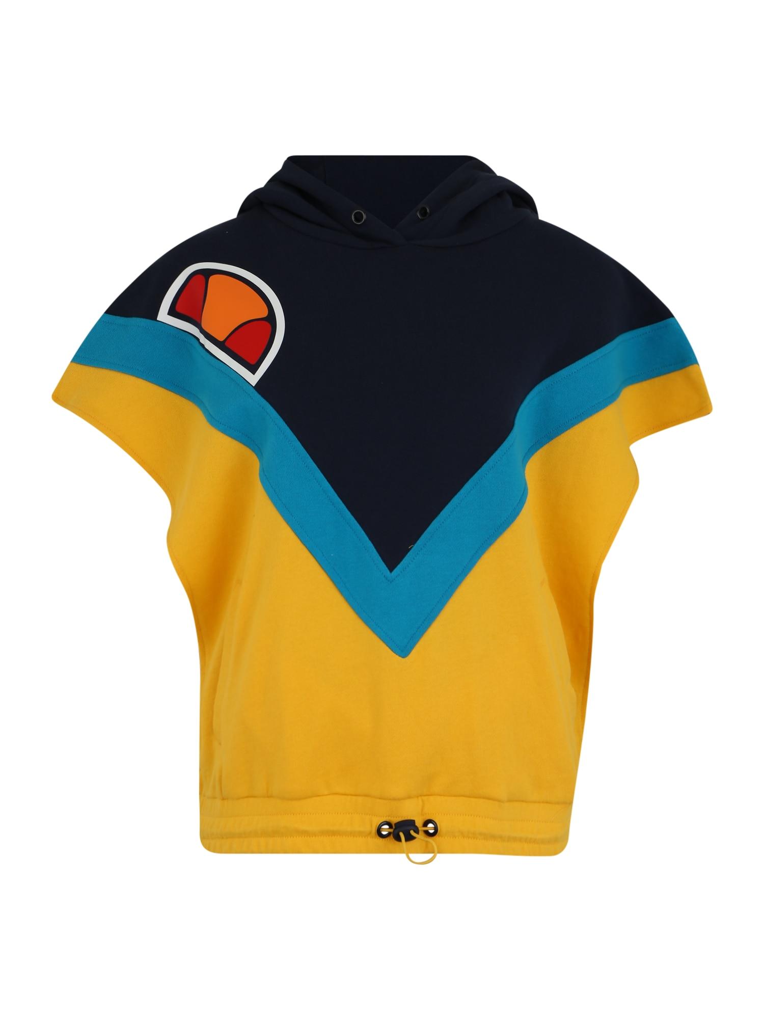 ELLESSE Megztinis be užsegimo 'Hayworth' vandens spalva / geltona / tamsiai mėlyna