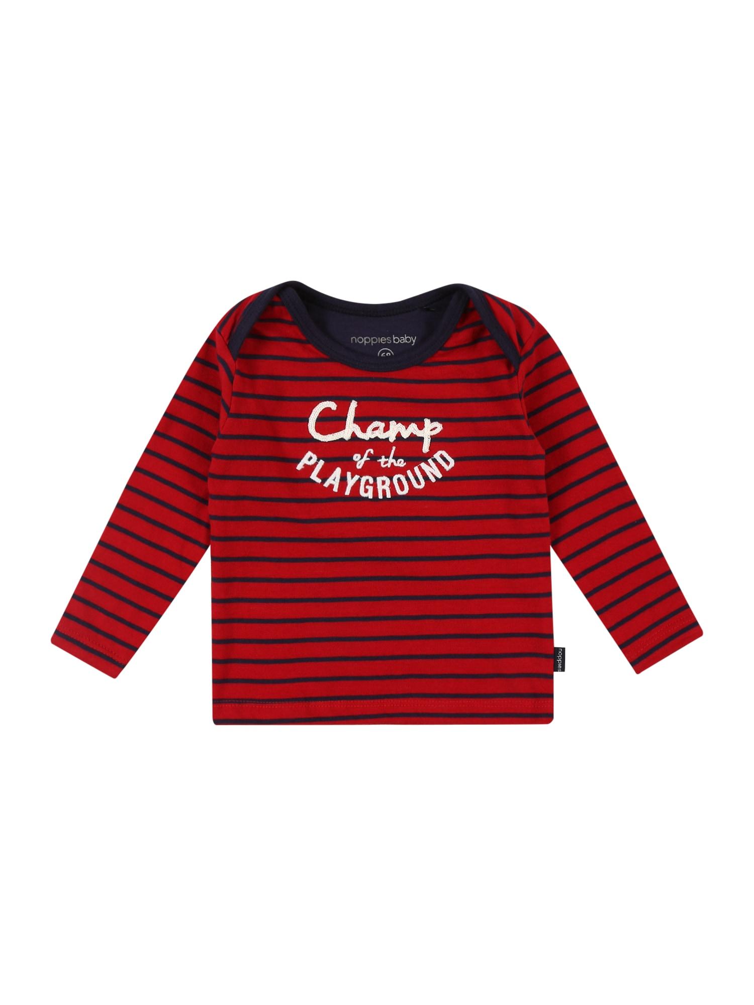 Noppies Marškinėliai 'Hawston' raudona / tamsiai mėlyna / balta