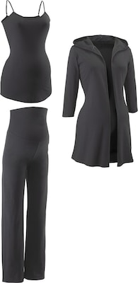 Neun Monate Umstands- Hose, Jacke & Top (Set, 3-tlg.)