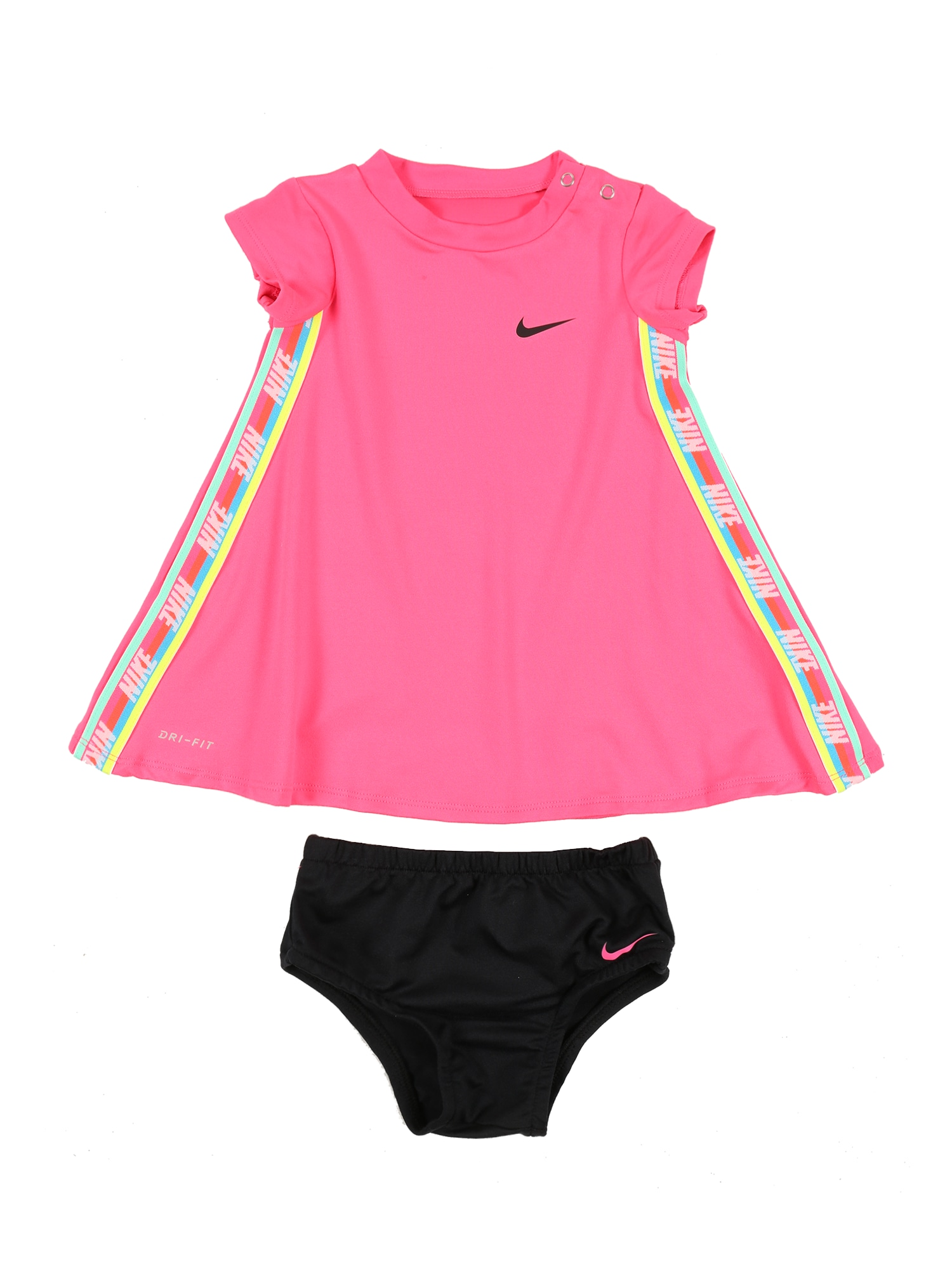 Nike Sportswear Šaty 'RAINBOW TAPING DRESS'  ružová