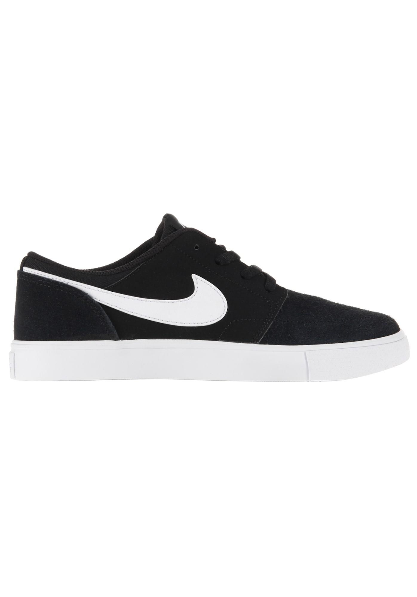 Nike SB, Damen Sneakers laag Portmore II, zwart / wit