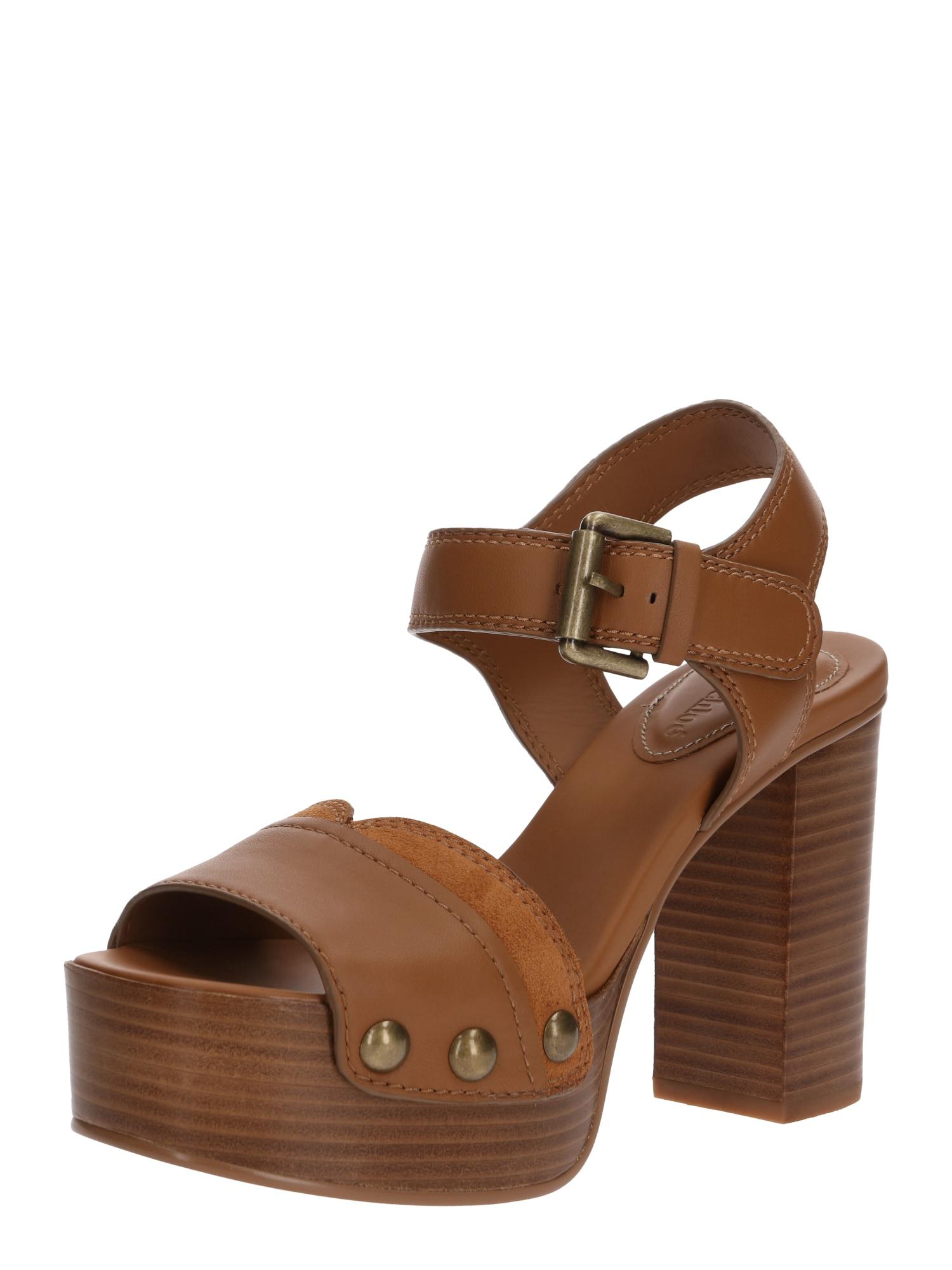 See by Chloé Remienkové sandále 'Sandale'  hnedé
