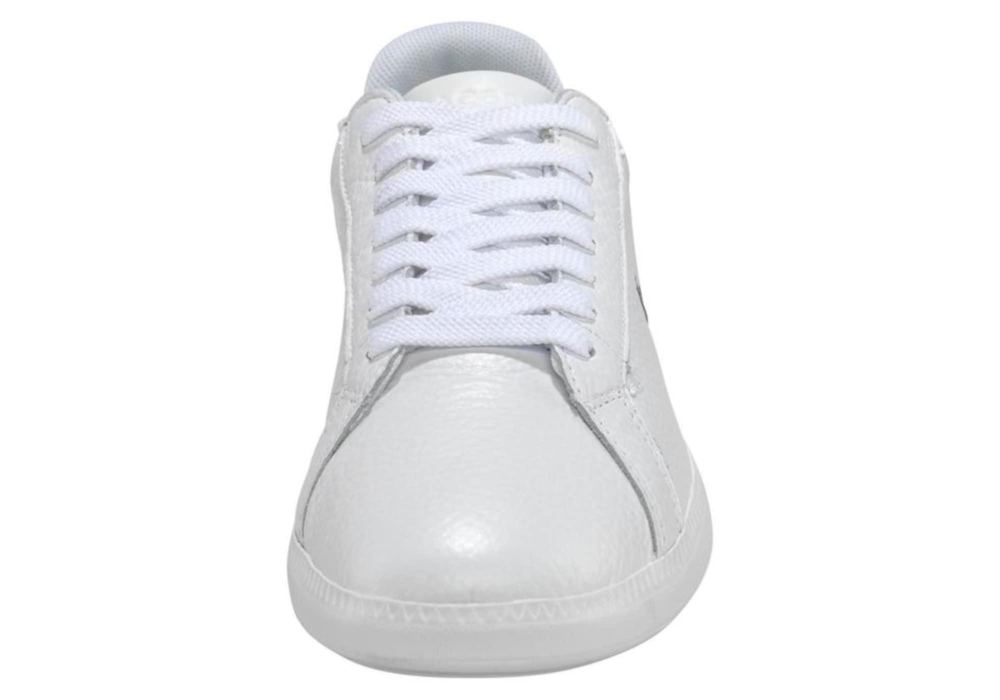 LACOSTE Nízke tenisky 'Graduate'  biela / strieborná / zelená.