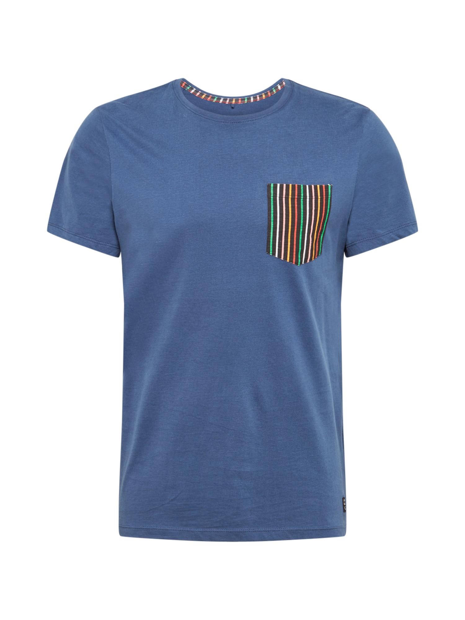 BLEND Marškinėliai 'Tee' mėlyna