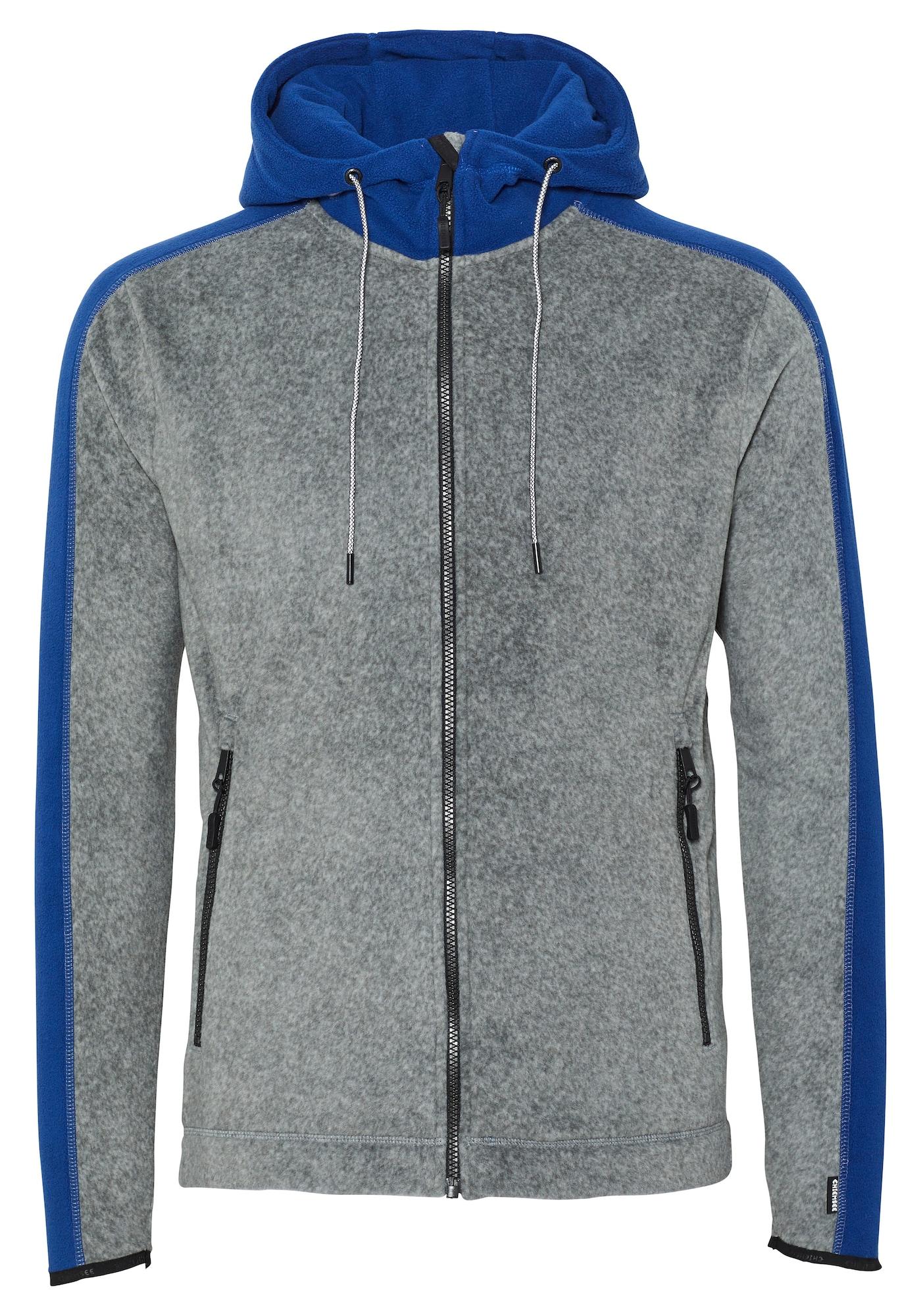 CHIEMSEE Funkcinis flisinis džemperis šviesiai pilka / mėlyna