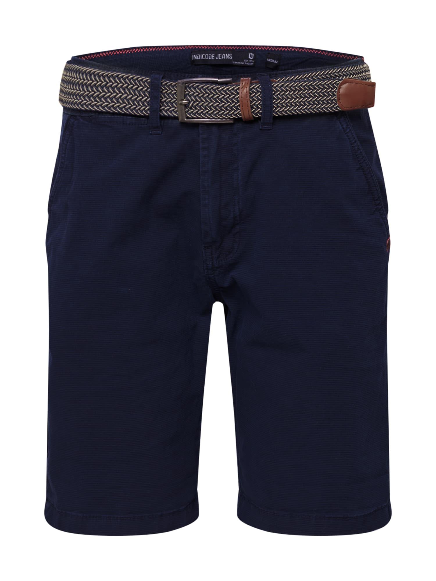 INDICODE JEANS Chino stiliaus kelnės 'Caedmon' tamsiai mėlyna