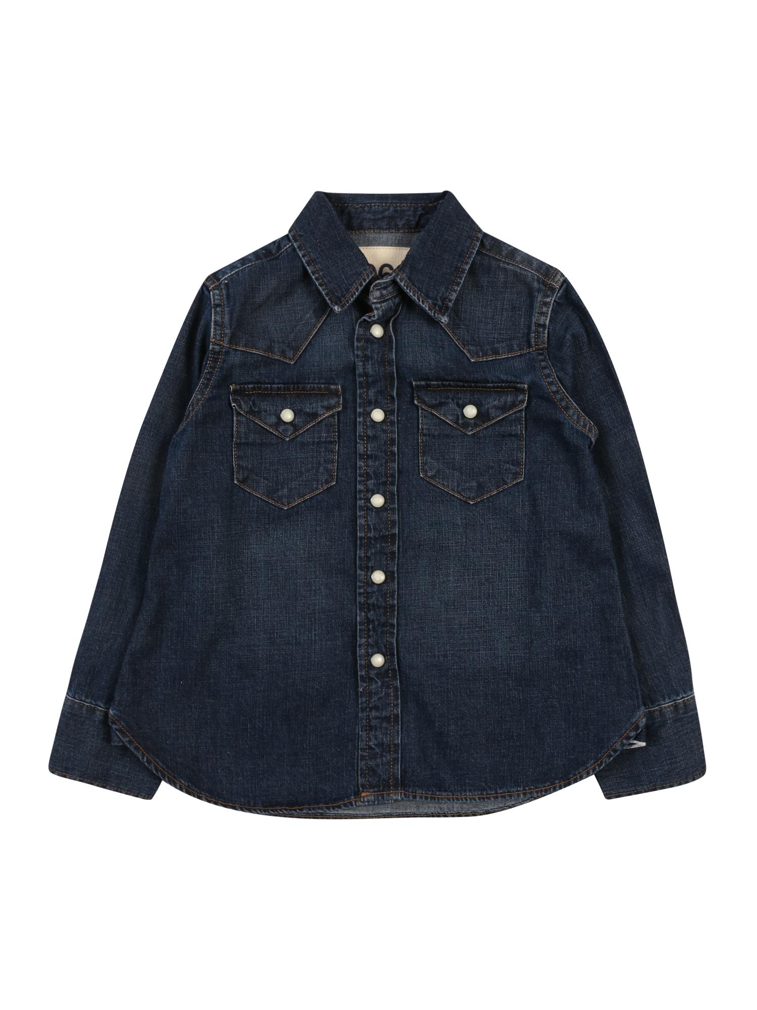 GAP Dalykiniai marškiniai '50TH DNM SHIRT' tamsiai (džinso) mėlyna
