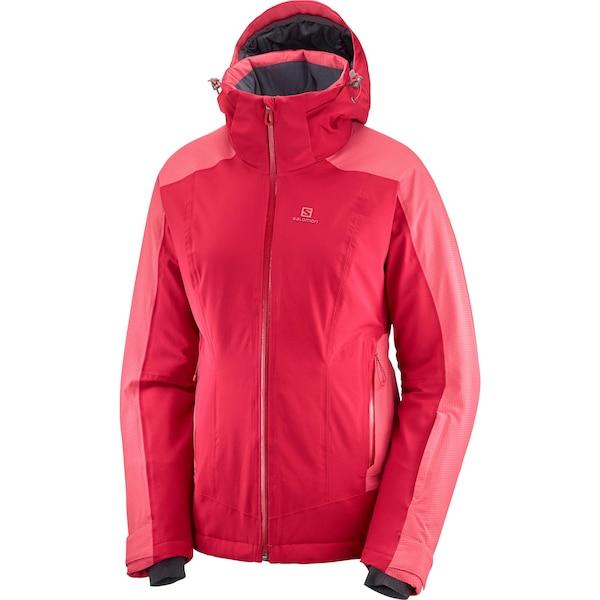Jacken für Frauen - Skijacke 'Brilliant' › SALOMON › pitaya rot  - Onlineshop ABOUT YOU