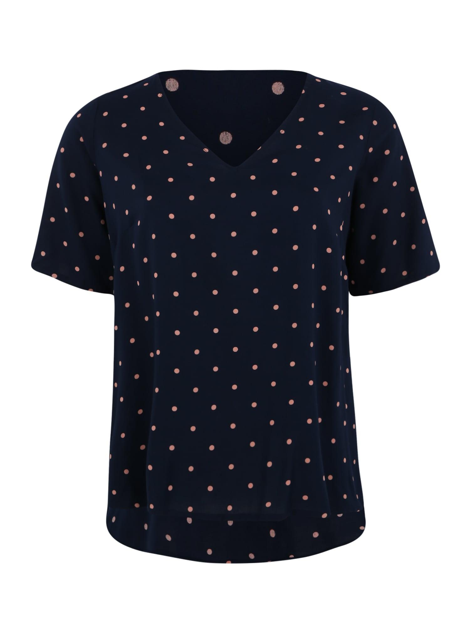 Junarose Marškinėliai 'MAIKA' balta / tamsiai mėlyna