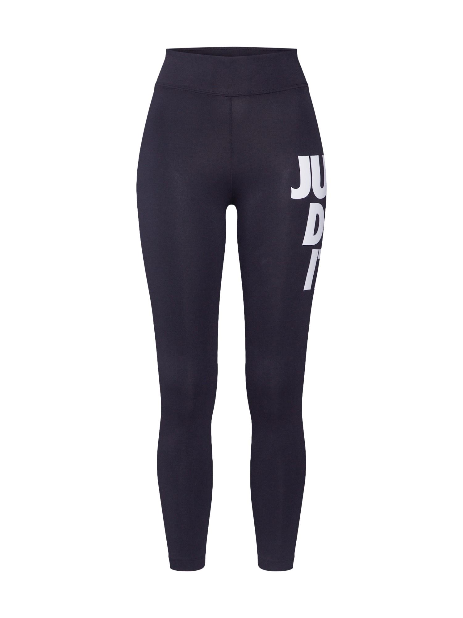Nike Sportswear Tamprės juoda / balta