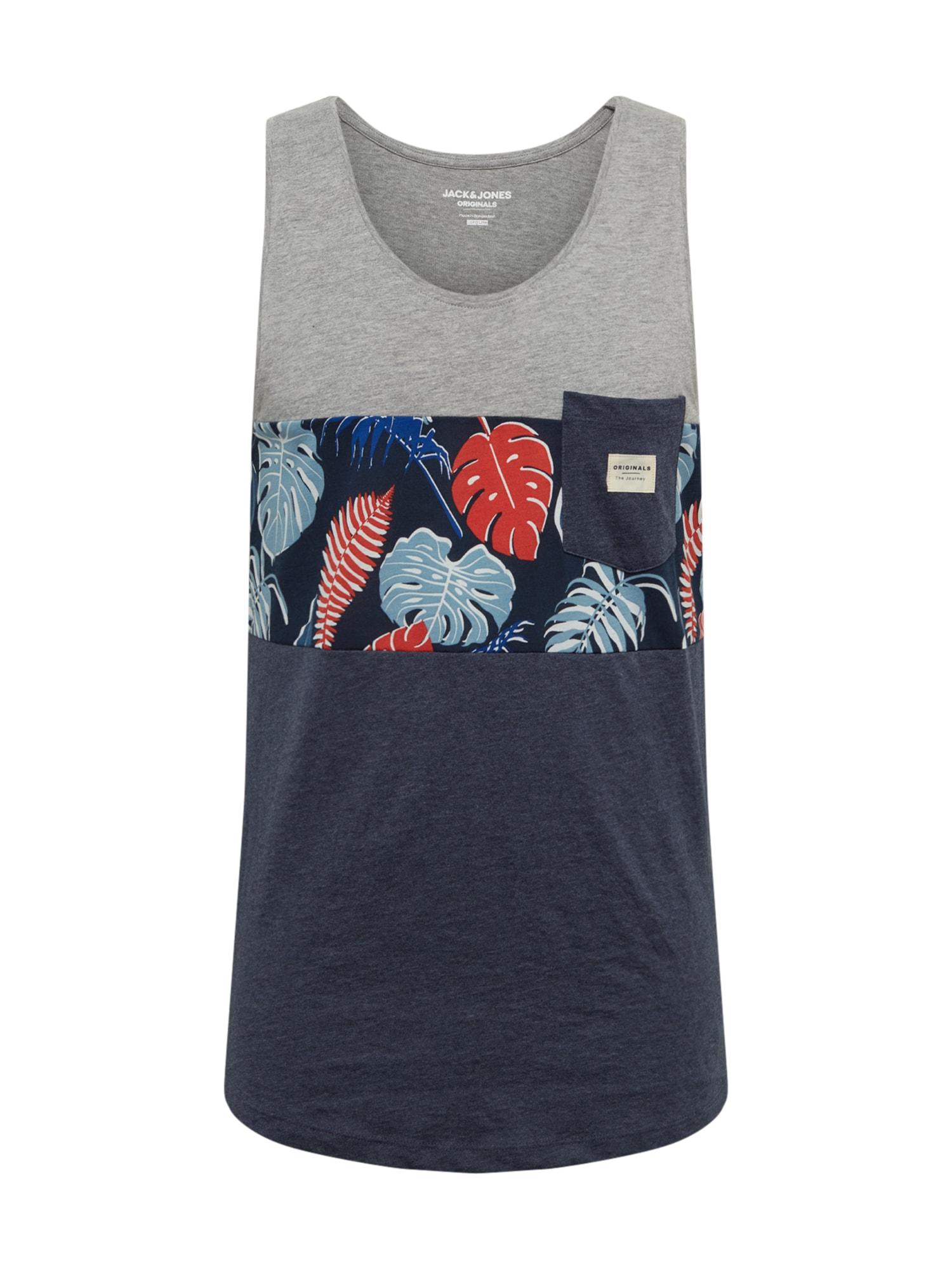 JACK & JONES Marškinėliai 'Flame' pilka