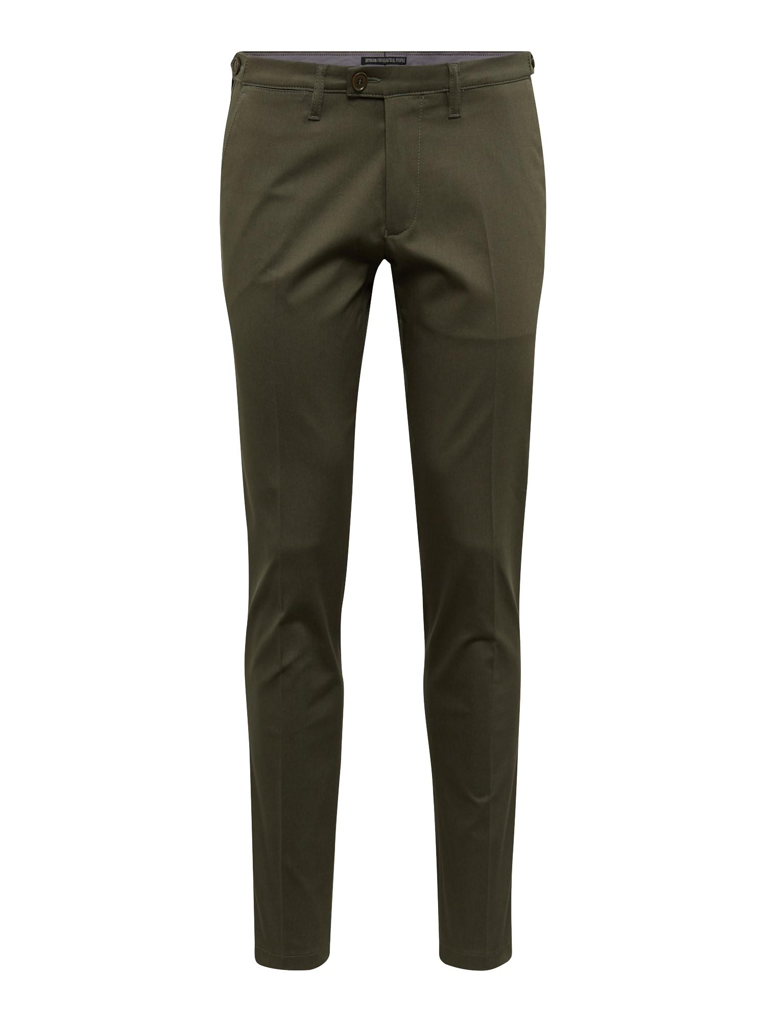 Kalhoty s puky Kill olivová DRYKORN