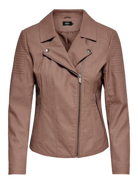 Jacken für Frauen - ONLY Kunstlederjacke cognac  - Onlineshop ABOUT YOU