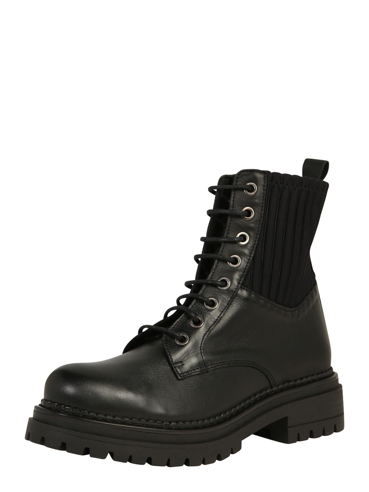 Ca Shott Suvarstomieji kulkšnis dengiantys batai juoda