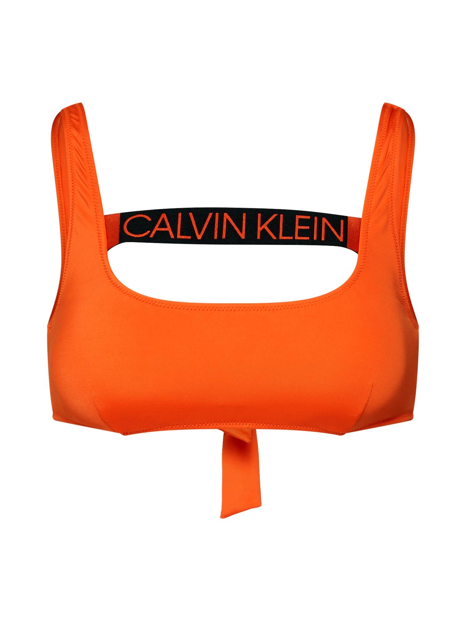 Horní díl plavek TIE BACK BRALETTE RP tmavě oranžová Calvin Klein Swimwear