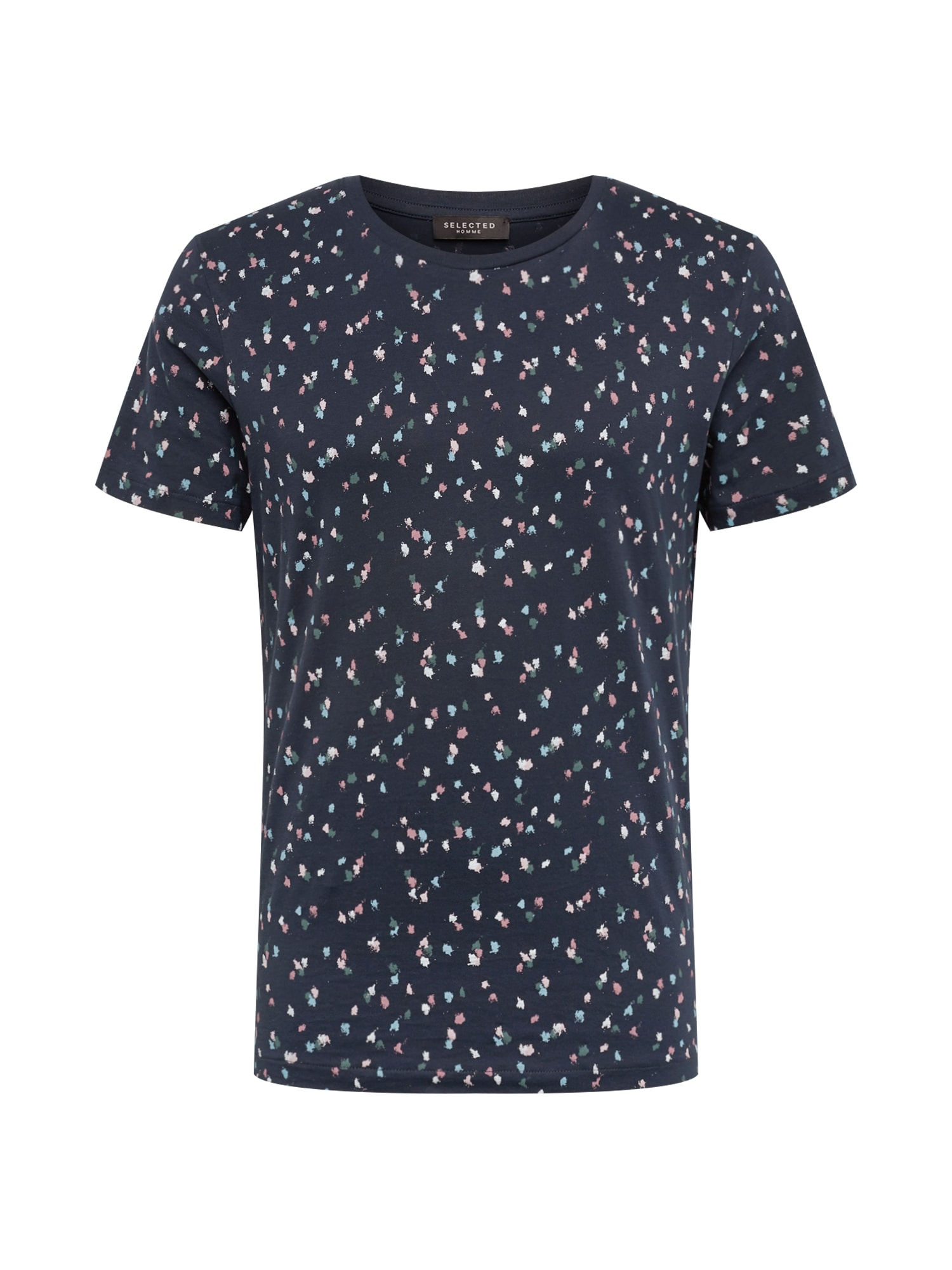 Tričko Sum tmavě modrá mix barev bílá SELECTED HOMME