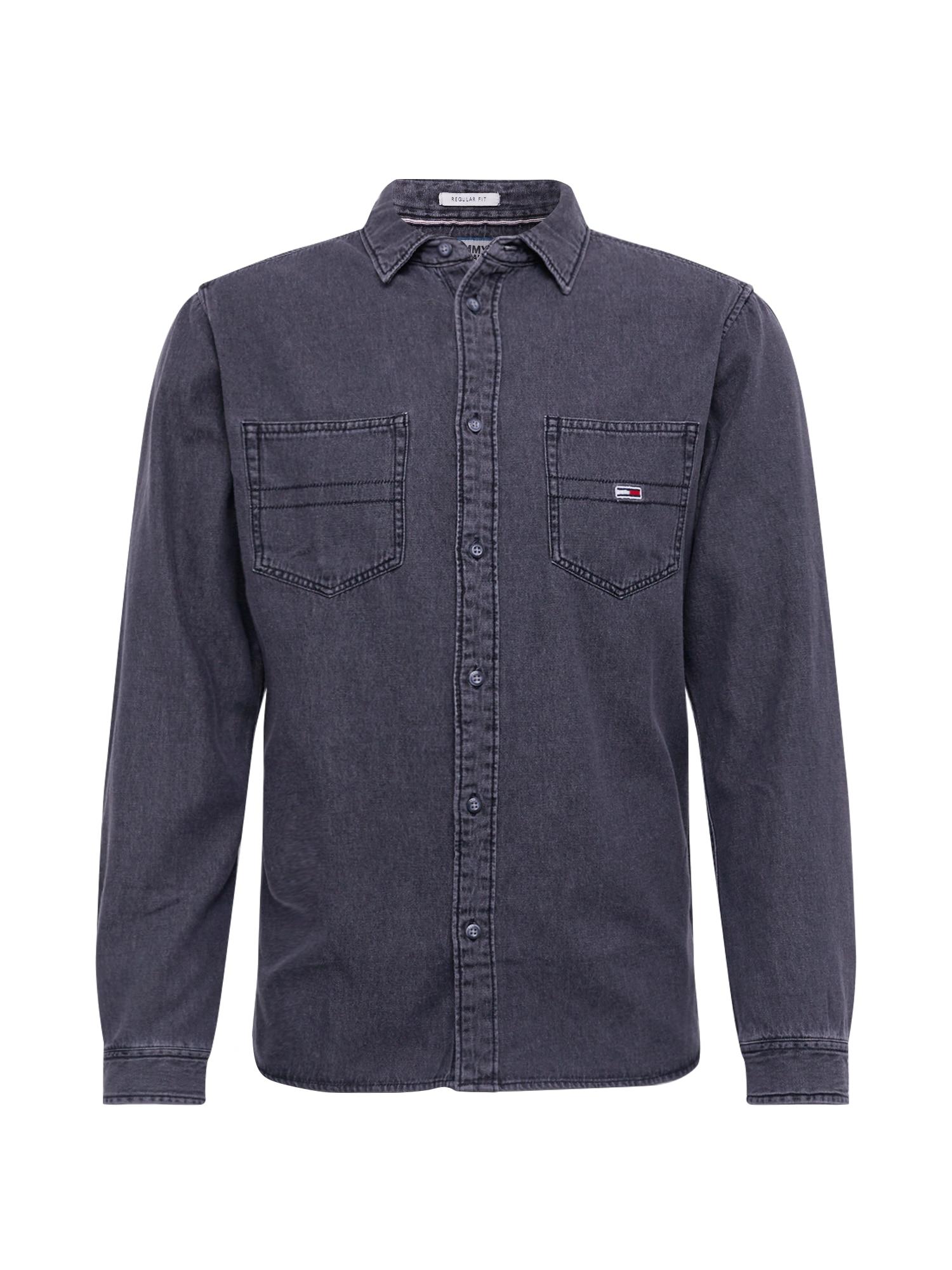 Tommy Jeans Dalykiniai marškiniai juodo džinso spalva