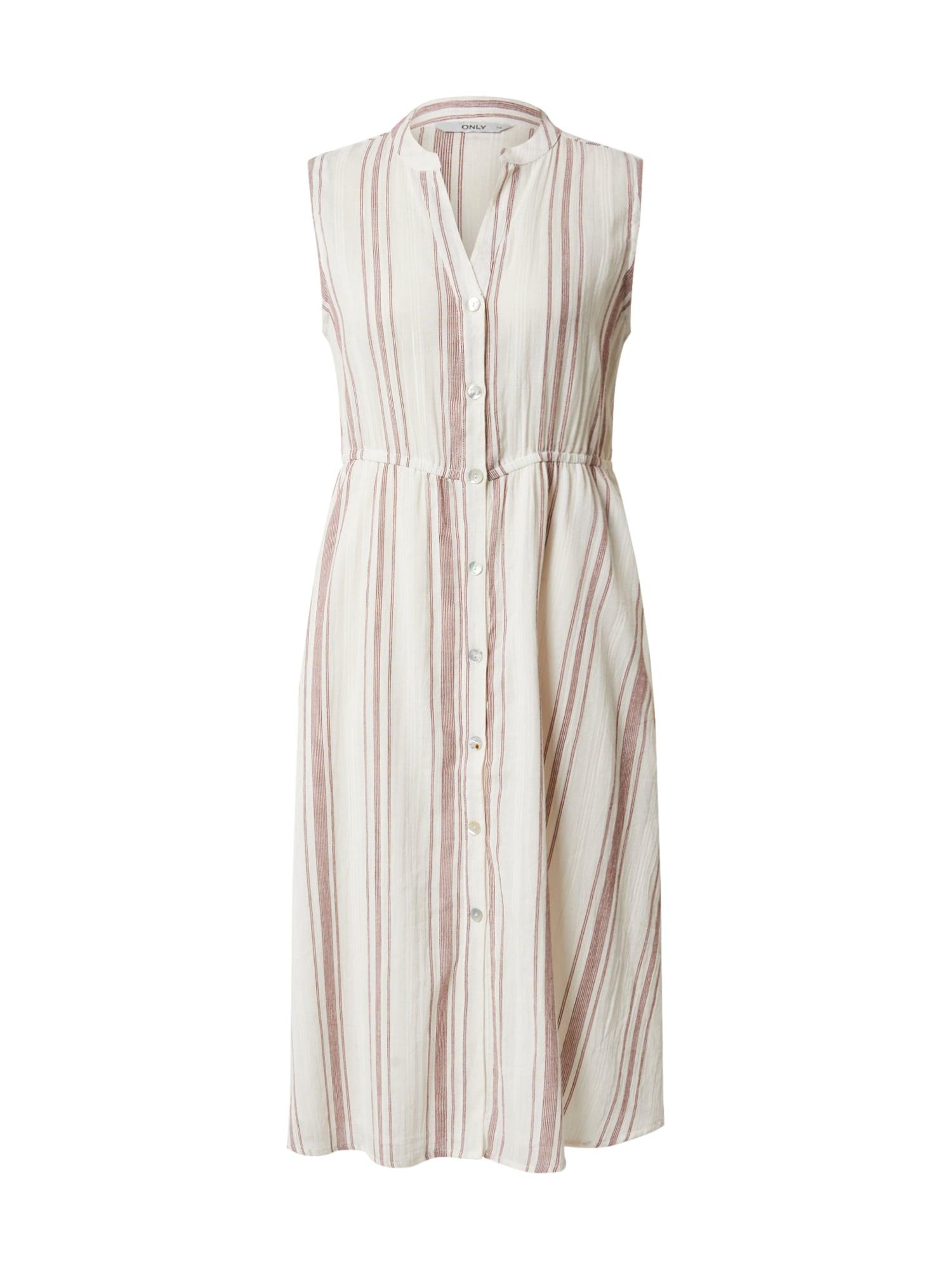 ONLY Košeľové šaty 'DORRIE'  bordové / šedobiela