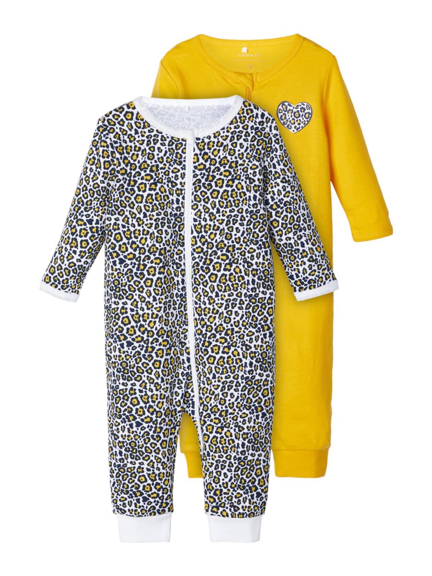 NAME IT Miego kostiumas balta / tamsiai mėlyna jūros spalva / aukso geltonumo spalva
