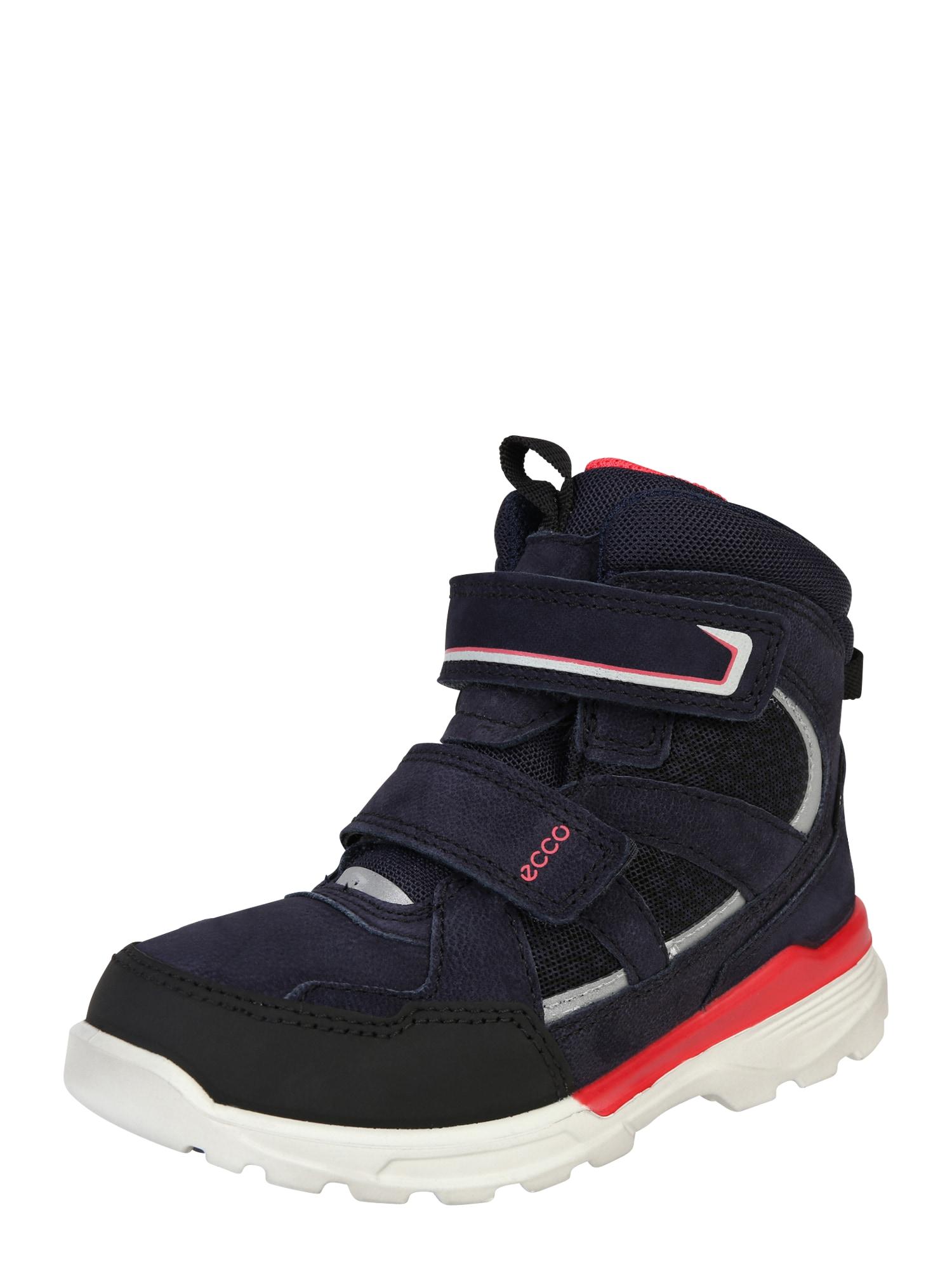 ECCO Sniego batai 'Urban Snowboarder FigTeaberry' tamsiai mėlyna / šviesiai pilka