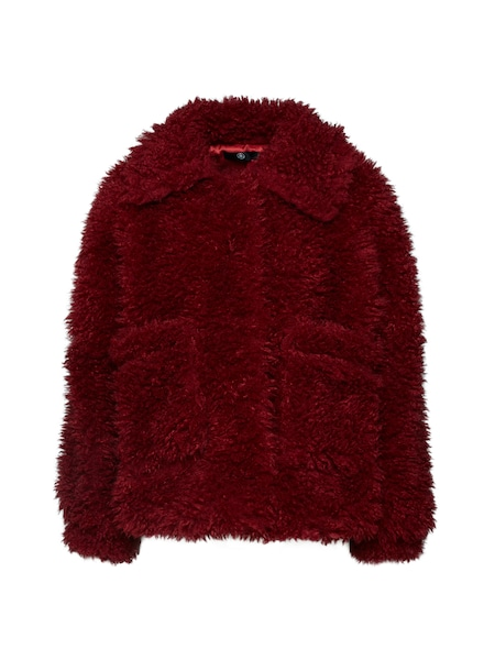Jacken für Frauen - Missguided 'BOXY SHAGGY BORG JACKET' rot  - Onlineshop ABOUT YOU