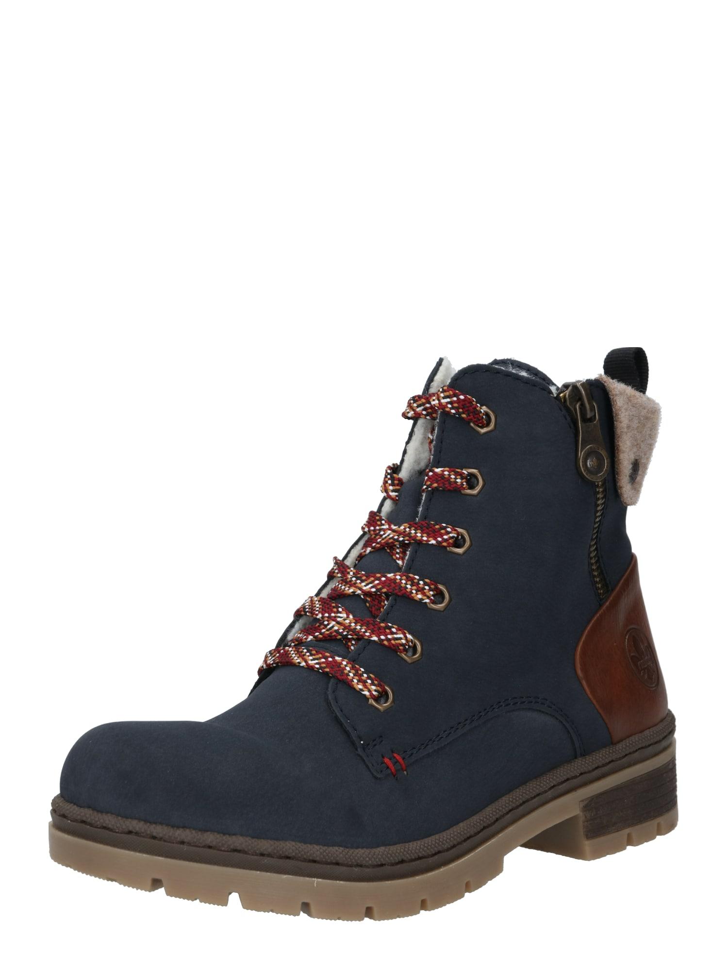 RIEKER Auliniai batai tamsiai mėlyna