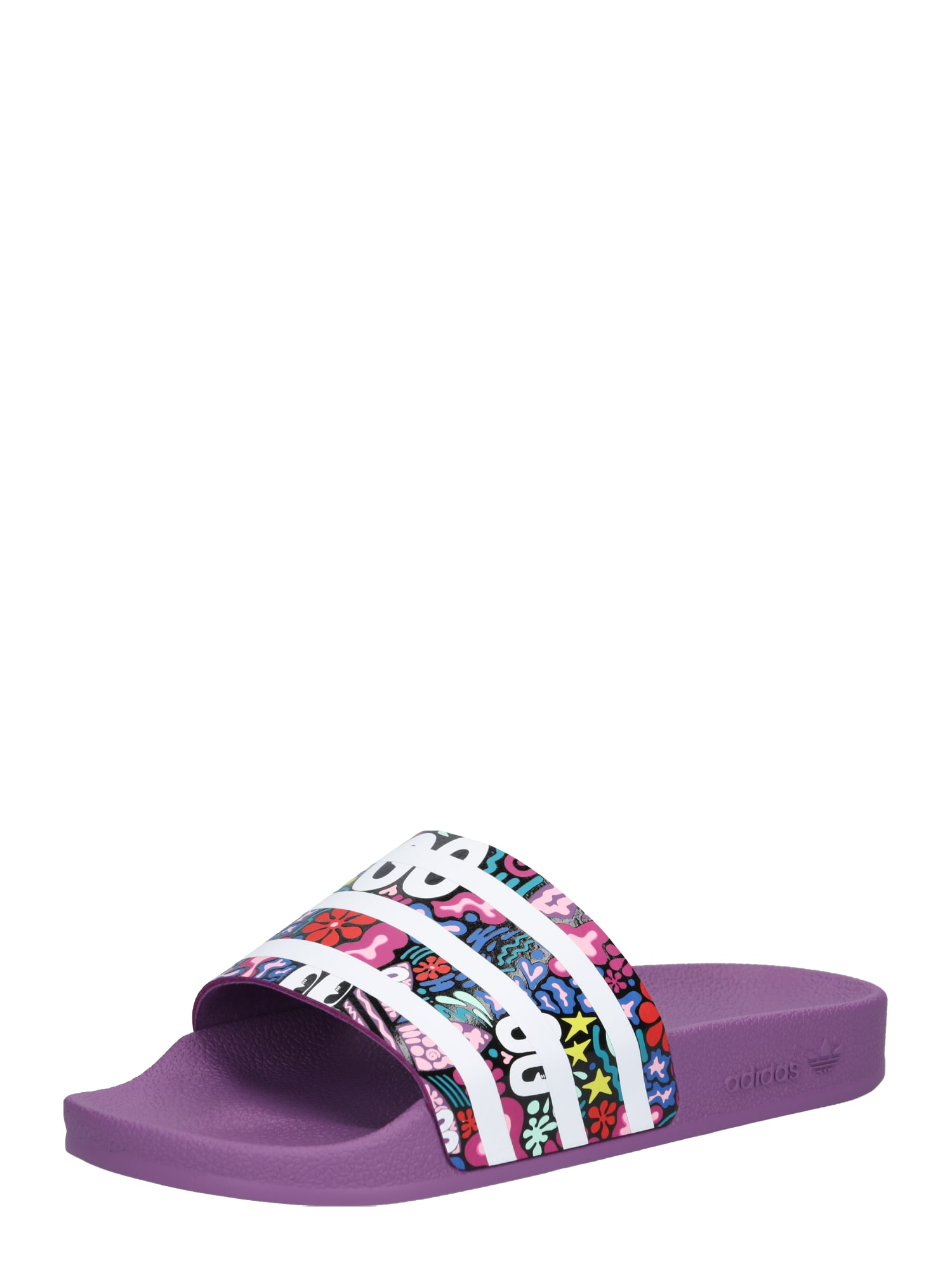 Pantofle Adilette lilek mix barev ADIDAS ORIGINALS