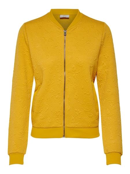 Jacken für Frauen - ONLY Bomber Sweatjacke goldgelb  - Onlineshop ABOUT YOU
