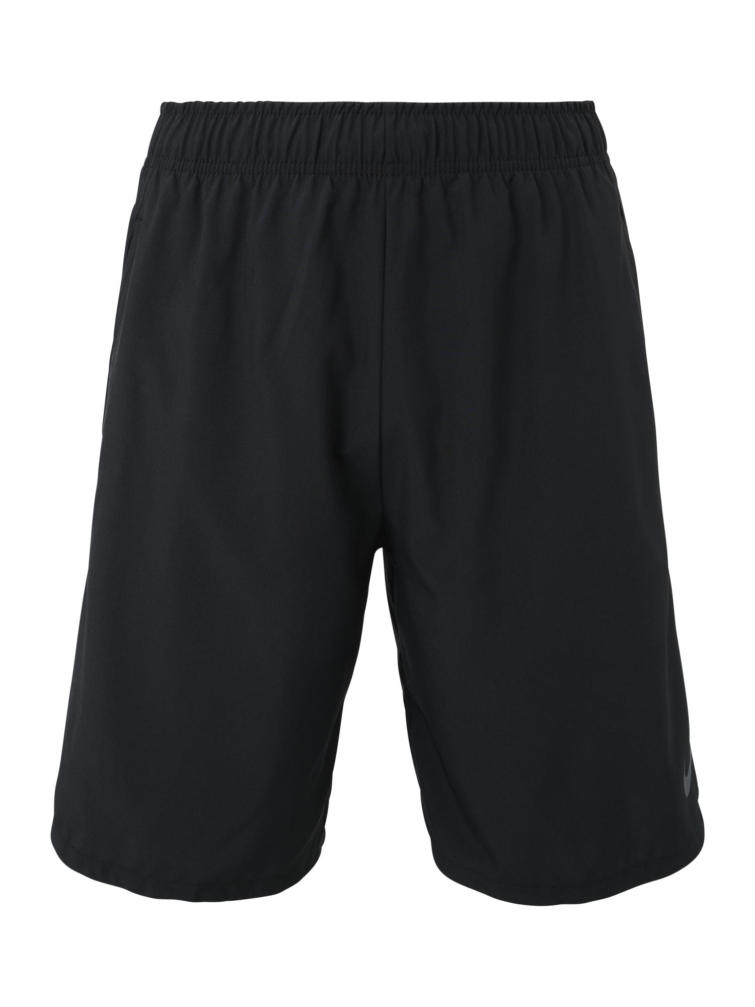 NIKE Sportinės kelnės 'Nike Flex' juoda / pilka