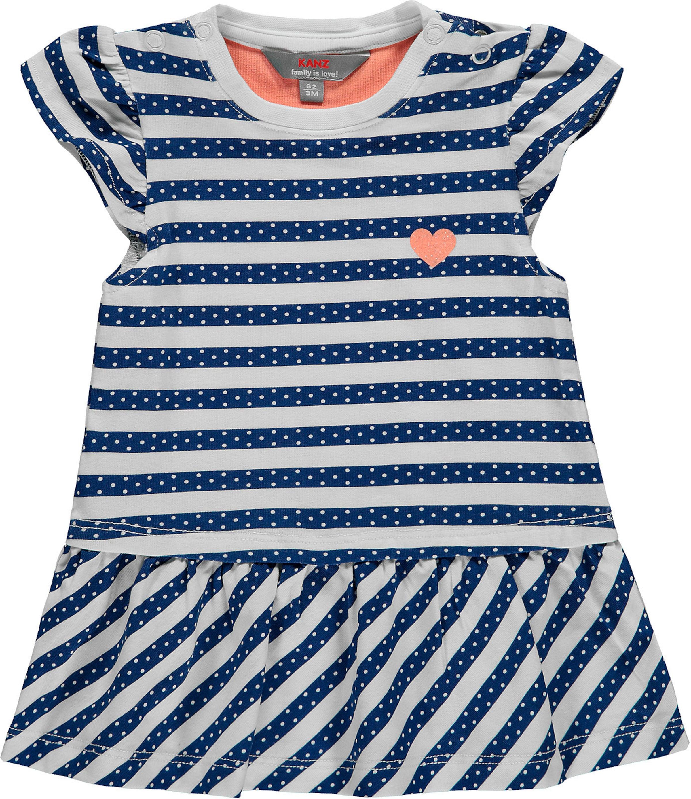 Kinder,  Mädchen,  Kinder KANZ Jerseykleid blau,  weiß | 04056178979910