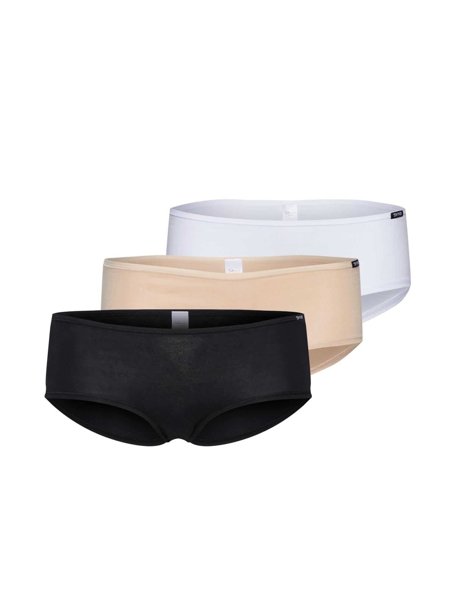 Skiny Nohavičky  telová / čierna / biela