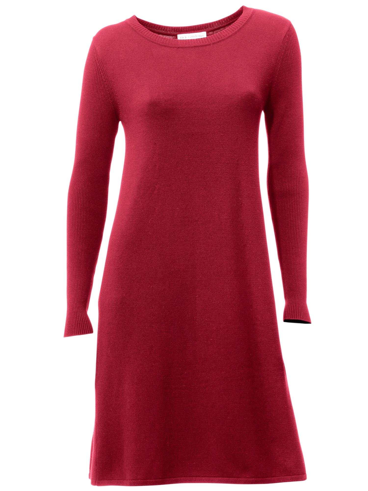 heine Úpletové šaty  vínově červená