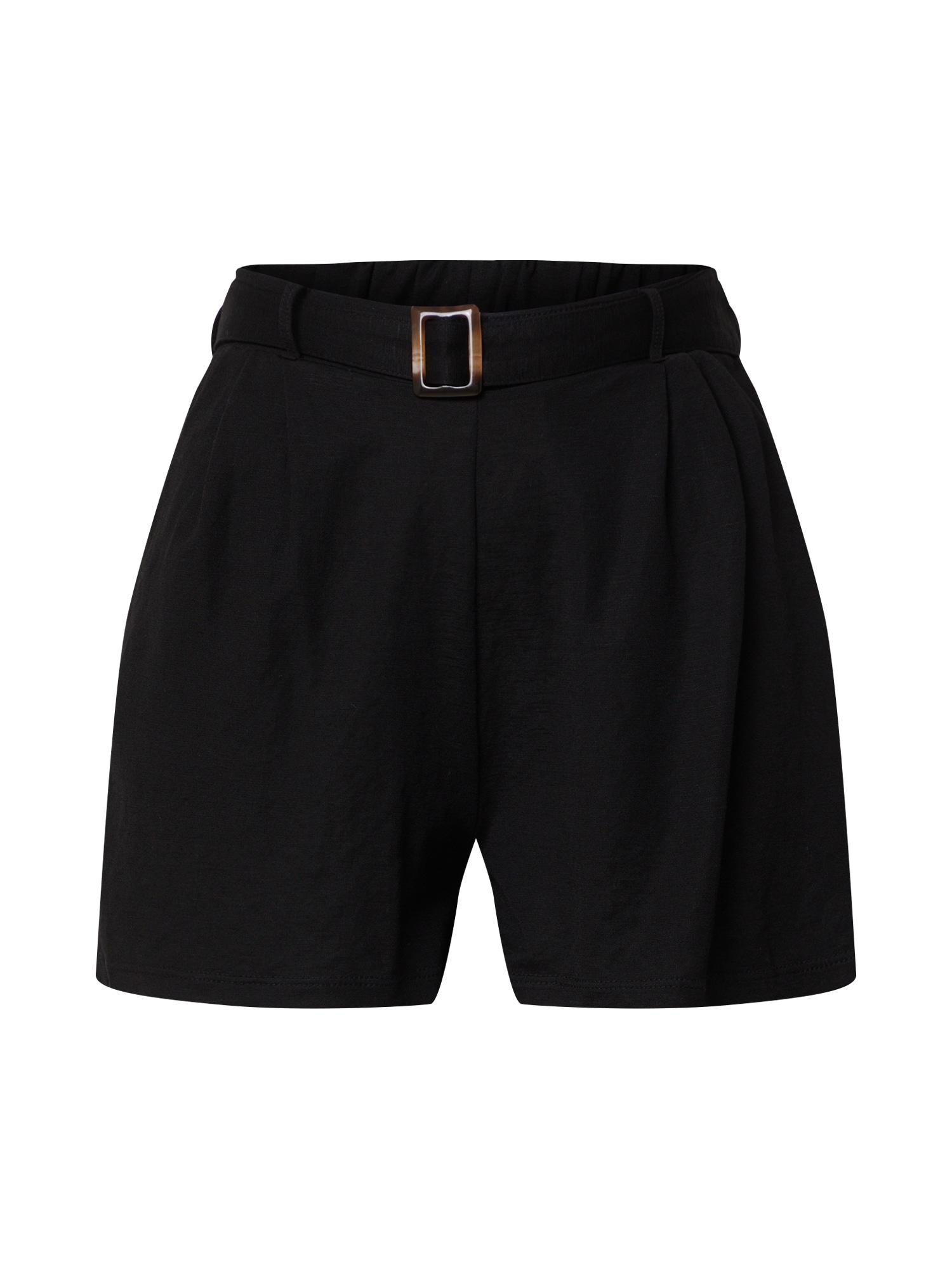 ONLY Plisované nohavice 'NOMA'  čierna